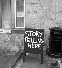 storytelling sandwich board